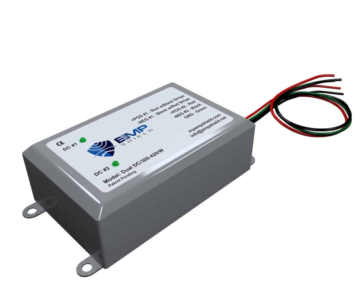 Dual DC 300 - 420 Wired EMP Shield Solar and Wind