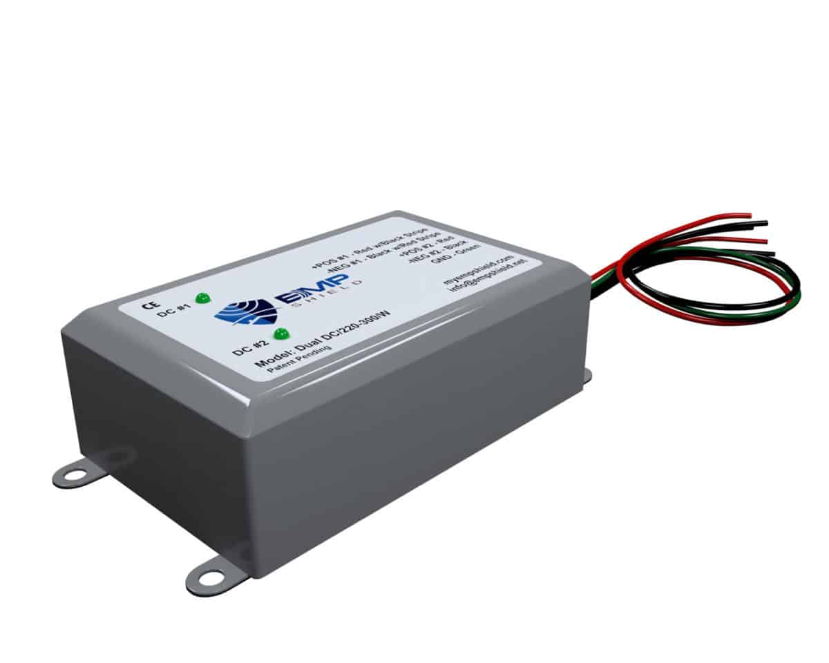 Dual DC 220 - 300 Wired EMP Shield Solar and Wind